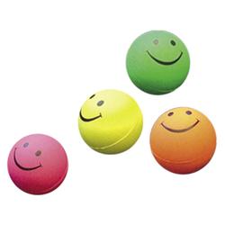 Nobby Moosgummi Smiley Bälle 4er Netz