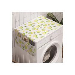 Abakuhaus Badorganizer Anti-Rutsch-Stoffabdeckung für Waschmaschine und Trockner, Sommer Zitronenscheiben Frische Zitrus