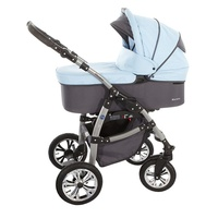 lux4kids Macano 3 in 1 silver/Sky Blue grey