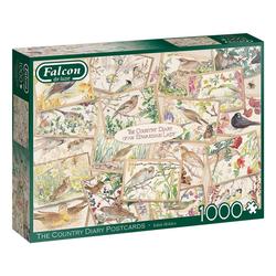 Falcon Puzzle 11336 Edith Holden Das Landtagebuch Postkarten, 1000 Puzzleteile