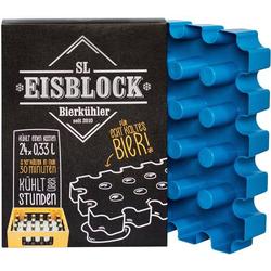 SL Eisblock 24x0,33l Flaschenkühler Kontakt Blau