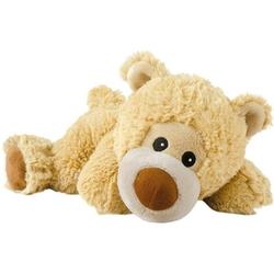Wärme-Stofftier Bär William liegend hellbraun