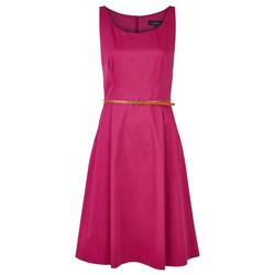 Daniel Hechter Modisches Kleid mit Gürtel pink Damen Knielange Kleider