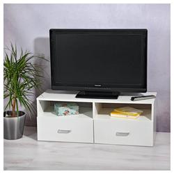 Mucola Lowboard Fernsehtisch Schrank Board Möbel Weiß Schwarz Braun Fernsehschrank Tisch Unterschrank TV fernseher Aufbewahrung beistellschrank ablage rack Lowboard, Breite 94,5 cm weiß
