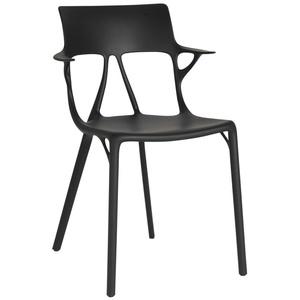 Kartell Stuhl A.I. schwarz, Designer Philippe Starck, 80x55x55 cm