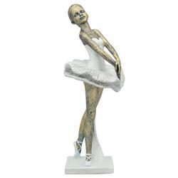 Ballerina Skulptur, weiß