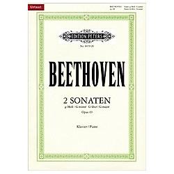 2 Sonaten für Klavier g-Moll u. G-Dur op.49 Nr.1-2. Ludwig van Beethoven  - Buch