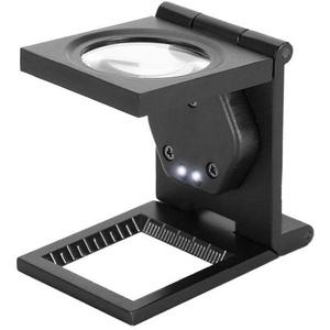 ASHATA Standlupe 30X Fach Leselupe,Große Leselupe Klappbar Lupe mit 2 LED-Beleuchtung Tischlupe Vergrößerungsglas,Tragbar Faltbar Standlupe Taschenlupe für Senioren/Inspektion/Reparatur/Handarbeiten