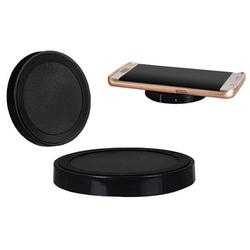 Induktives Ladegerät Schwarz Rund Wireless Charger Qi Wireless USB Charger