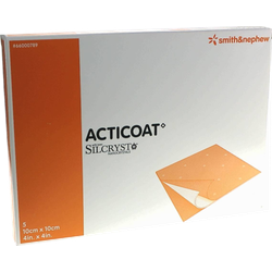 ACTICOAT 10x10 cm antimikrobielle Wundauflage 5 St