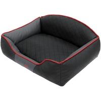 Hobbydog LELICZG10 Hundebett/Sofa/Korb Elite mit Kunstleder, schwarz/Graphit, L 65 x 50 x 24 cm