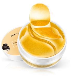 Augen Pads 60 St. Gold Maske Hydrogel Hyaluron gegen Augenringe, Tränensäcke Eye Mask Kollagen Gel Augenpads Anti-Falten Feuchtigkeit Korea Patches Collagen