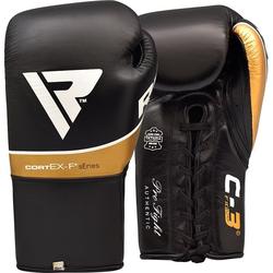 RDX C3 BBBOFC Zugelassene Pro Kampf Boxhandschuhe (Größe: 10 Unzen, Farbe: Gold)