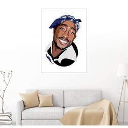 Posterlounge Wandbild, Leinwandbild Tupac 60 cm x 80 cm