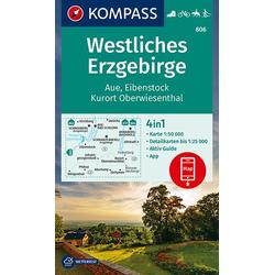 Westliches Erzgebirge Aue Eibenstock Kurort Oberwiesenthal 1:50 000