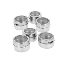Lantelme Gewürzregal 6 Stück Gewürzdosen magnetisch, 6-tlg., Edelstahl Gewürzbehälter