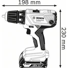 Bosch GSR 18 V-21 Professional inkl. 2 x 2,0 Ah + L-Boxx (06019H1002)