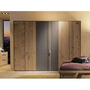 Kleiderschrank V-Vaganto Massivholz braun Voglauer VS602-Q (BHT 302x226x63 cm) Voglauer