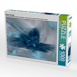 Blaues Kristall Lege-Größe 64 x 48 cm Foto-Puzzle Bild von Digital-Art Puzzle