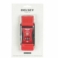 Delsey Accessoires TSA Kofferriem II 6 cm rot
