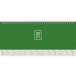 Querterminbuch 30x11cm 1 Woche/2 Seiten grün 2021