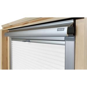 Home-Vision® Dachfenster Premium Doppelplissee Wabenplissee ohne Bohren Velux-kompatibel (Weiß für S06 / S36 - Silber) Einfarbig Blickdicht Sonnenschutz, Alle Montage-Teile inklusive
