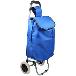 Helo Einkaufstrolley Trolley Einkaufswagen Handwagen Koffer Handgepäck Trolli Roller (Blau)