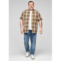 s.Oliver Kurzarmhemd Regular: Hemd aus Hanfmix bunt 5XL