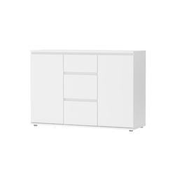 ebuy24 Sideboard Nora Sideboard 2 Türen und 3 Schubladen weiss.