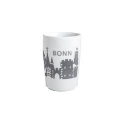 Kahla Becher Maxi-Becher Skyline Bonn Five Senses Touch, Porzellan mit Samt grau