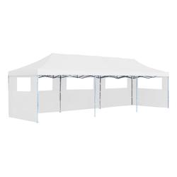 vidaXL Partyzelt vidaXL Pop-Up Partyzelt Faltbar mit 5 Seitenwänden 3x9 m Weiß