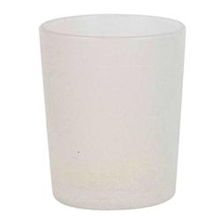 Teelichtglas Frost, Weiß