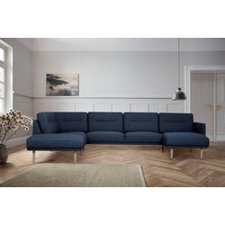 andas Wohnlandschaft Brande, in skandinavischem Design blau