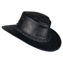Barmah Hats Lederhut schwarz L