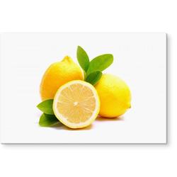 Küchenrückwand Spritzschutz Lemons Zitrone, (1-tlg) 80 cm x 60 cm x 0,4 cm