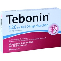 Dr Willmar Schwabe GmbH & Co KG TEBONIN 120 mg bei Ohrgeräuschen Filmtabletten