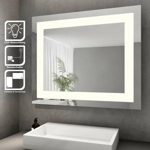 LED Badspiegel mit Beleuchtung Energiesparender Modernes Hochglanz Kaltweiße