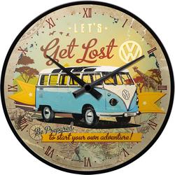 VW Bulli T1 Wanduhr Let's Get Lost