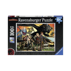 Ravensburger Puzzle Puzzle, 100 Teile XXL, 49x36 cm, Dragons:, Puzzleteile