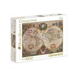 Clementoni® Puzzle Clementoni - Old Map, 1000 Teile Puzzle, 1000 Puzzleteile