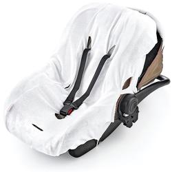 Babyjem Kindersitzbezug, Maße (B/H) 28 x 41 cm weiß Kinder Kindersitzunterlagen Zubehör für Kindersitze Autositze Kindersitzbezug