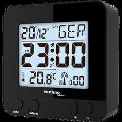 WT 235 schwarz - moderner Funkwecker mit Touch-Sensor