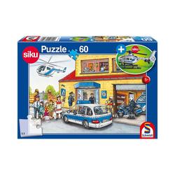 Schmidt Spiele Puzzle Siku Puzzle 60 Teile Hubschrauber Polizei, Puzzleteile