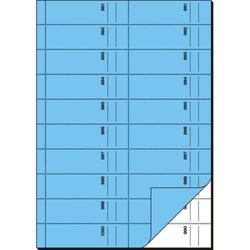 Bonbuch 1000 Abrisse A4 hoch 65g/qm blau mit Blaupapier 2x50 Blatt