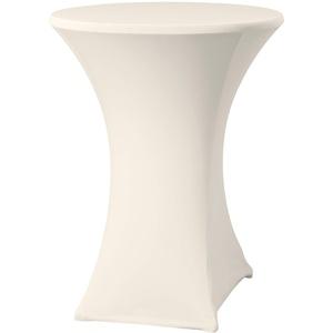 HENDI Stehtischhusse, Stoff: Glatt Jersey 160 g/m2, 90% Mikropolyester / 10% Elastan, für Stehtische mit einer Tischplatte von ø80-85cm, für HENDI Stehtisch 810521 & 810538, ø850x(H)1150mm, Creme