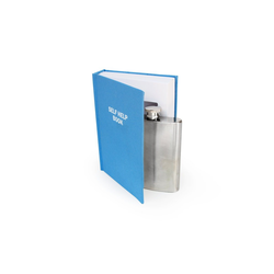 SuckUK Flachmann Flachmann 120 ml im Buch - Self Help Book - Taschenflasche und Buch-Versteck im Set