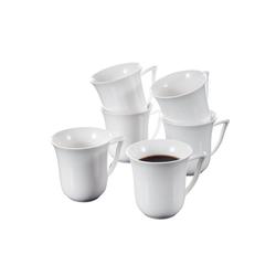 MALACASA Teller CARINA, (24 Stück), Kaffeebecher Set aus Porzellan rund - 10 cm
