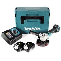 Makita DGA504RFJ inkl. 2 x BL1830 + Ladegerät
