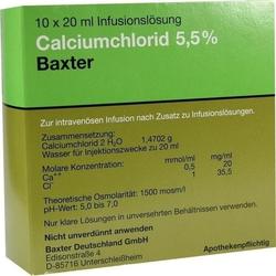 CALCIUMCHLORID Lösung 5,5% Ampullen 200 ml