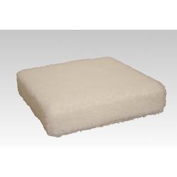 Licardo Sitzkissen Sitzkissen Sitzerhöhung Wolle ecru 40/40/10 cm